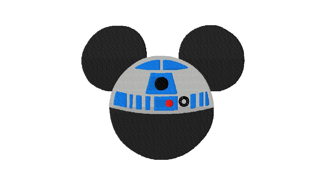Free Mickey Vs Star Wars R2 Machine Embroidery Design File Daily