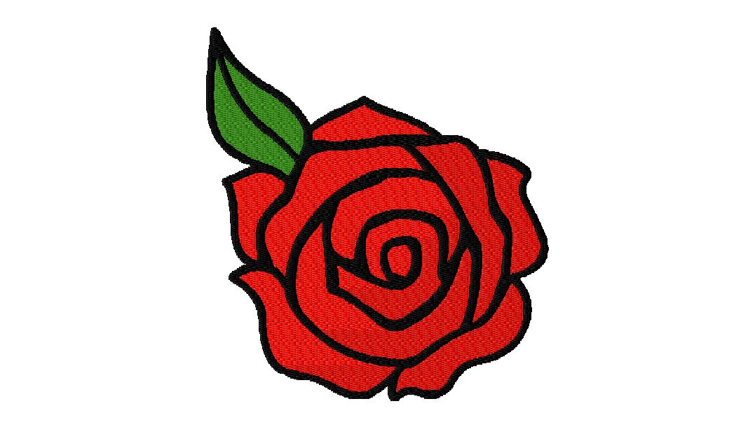 Stitched embroidery design free rose daily
