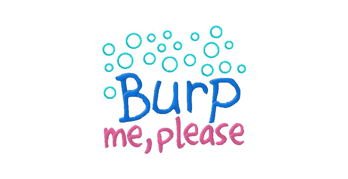 Burp Me Please Funny Free Machine Embroidery Design ...