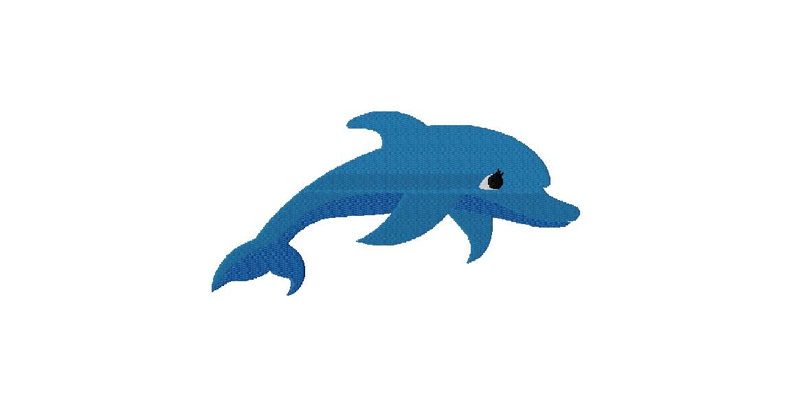 Free Fully Stitched Dolphin Embroidery Design