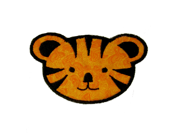 Jungle week free tiger face machine applique embroidery design