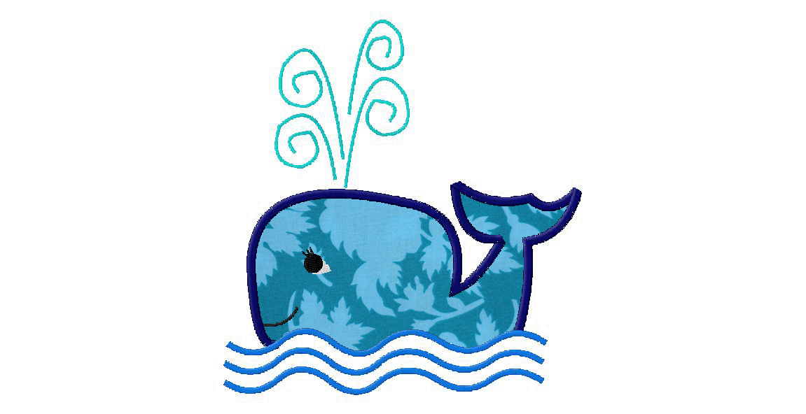 Free Applique Sea Whale Machine Embroidery Designs  Daily