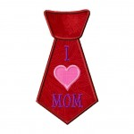 Tie Heart Mom Applique 6_5 Inch