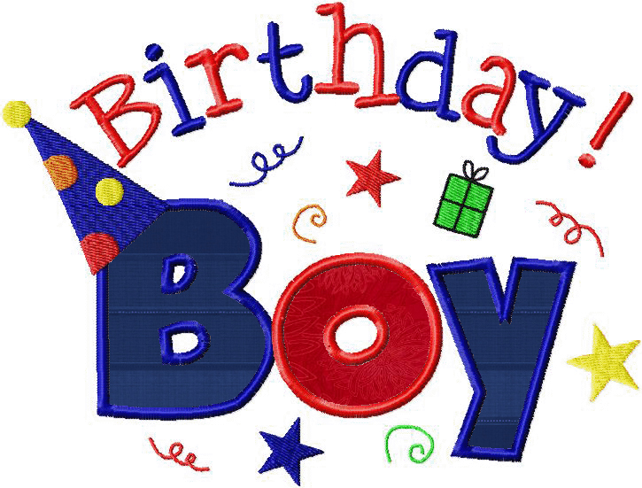 happy birthday boy and girl two pack machine embroidery designs