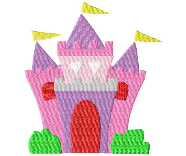 Majestic Princess Castle Machine Embroidery Design Daily Embroidery