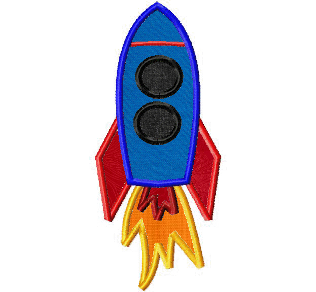 Free Blasting Space Rocket Machine Embroidery | Daily ...