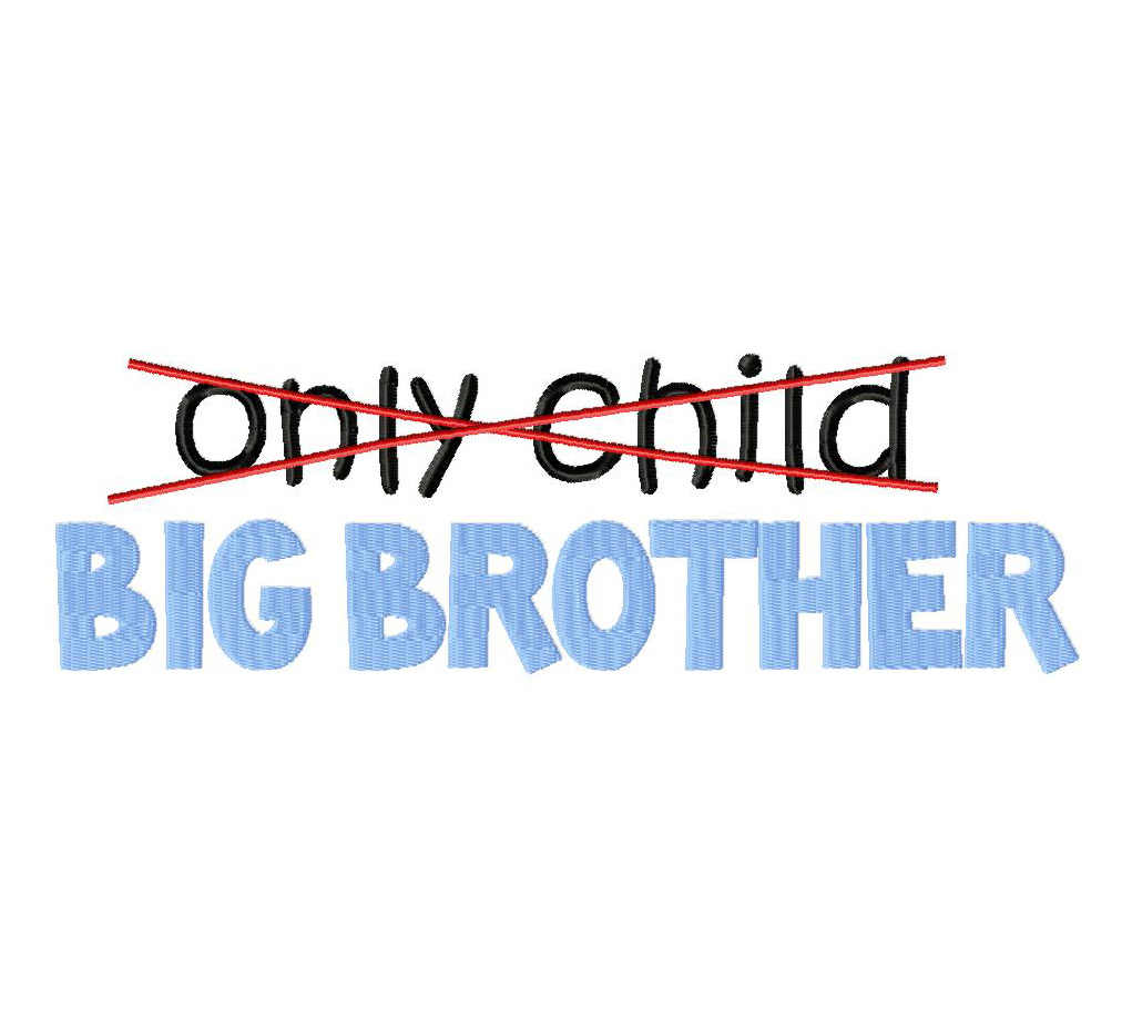Only Child Big Sister Embroidery Design Daily Embroidery