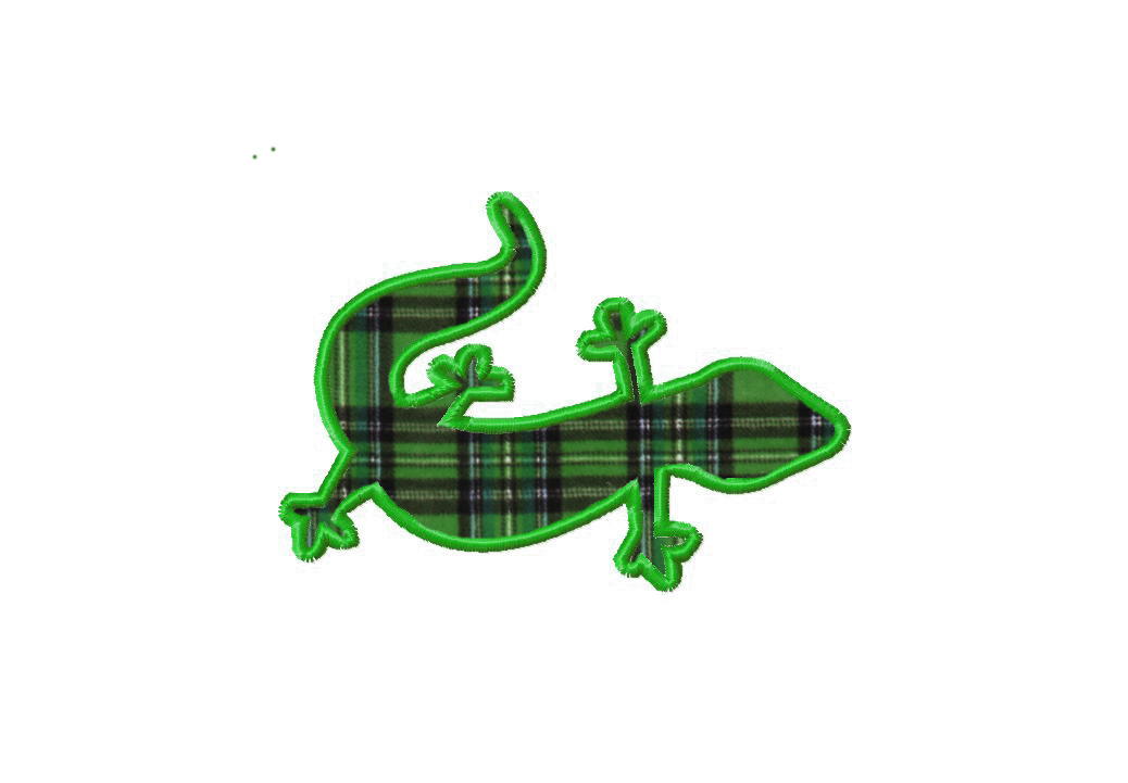 Free Gecko Applique Machine Embroidery Design Daily Embroidery