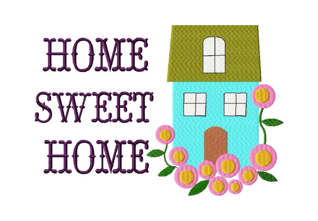 free home sweet home machine embroidery design daily embroidery. Black Bedroom Furniture Sets. Home Design Ideas