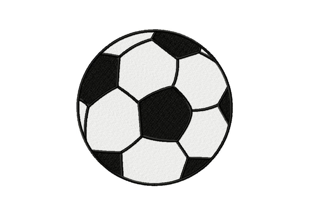 Free Embroidery Design Soccer Ball Includes Both Applique And Fill