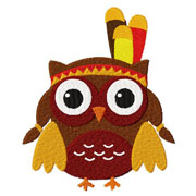 Owl Chieftess Embroidery Design