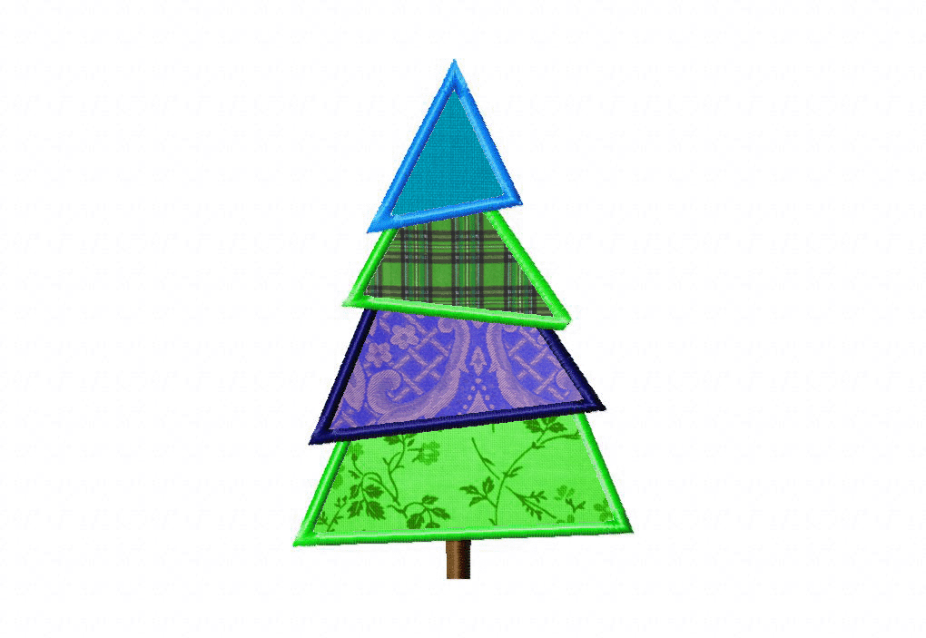 Free Christmas Tree Machine Applique Design | Daily Embroidery
