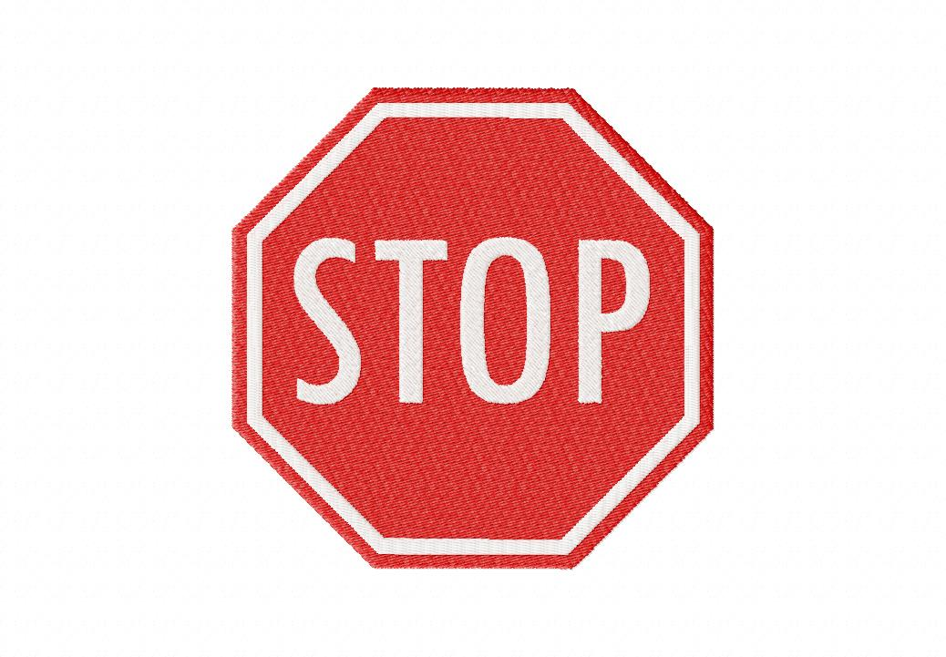 free stop sign machine embroidery design daily embroidery