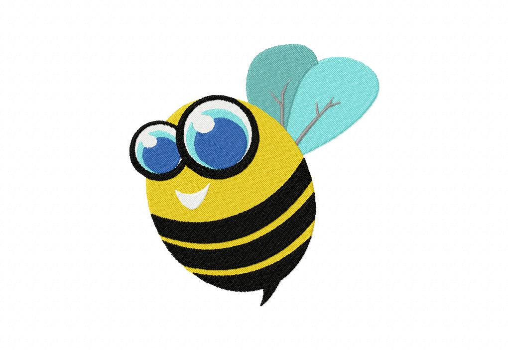 Free machine embroidery bee design daily