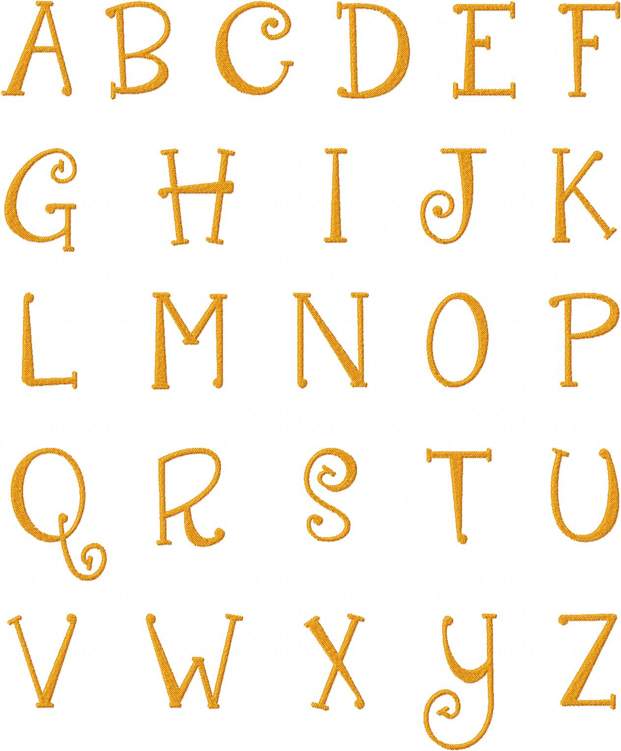 Quirky Girl Machine Embroidery Font Set For Gold Members