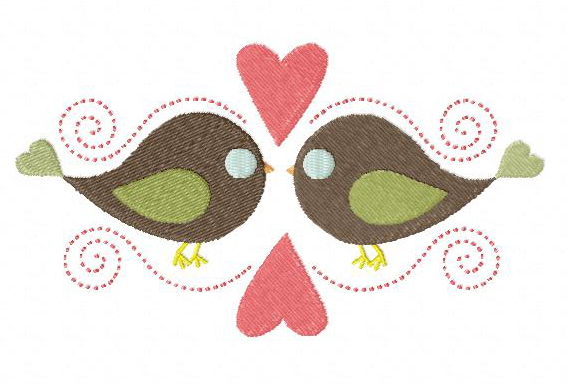 Bird Love Machine Embroidery Design For Gold Members Only Daily