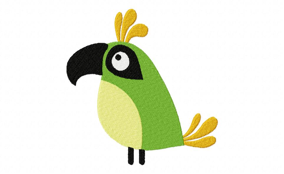 Free Fun Time Bird Machine Embroidery Design Daily Embroidery