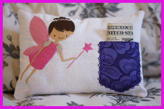 Machine Embroidery Tooth Fairy Pillow
