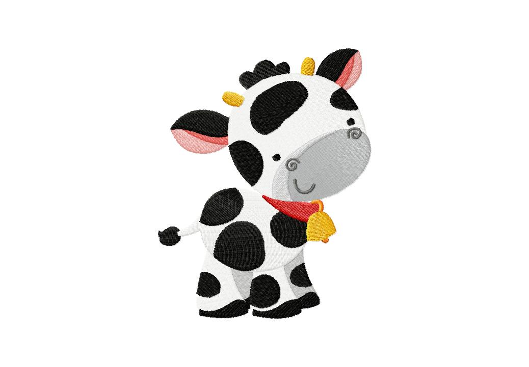 Farm cow machine embroidery design for gold members only