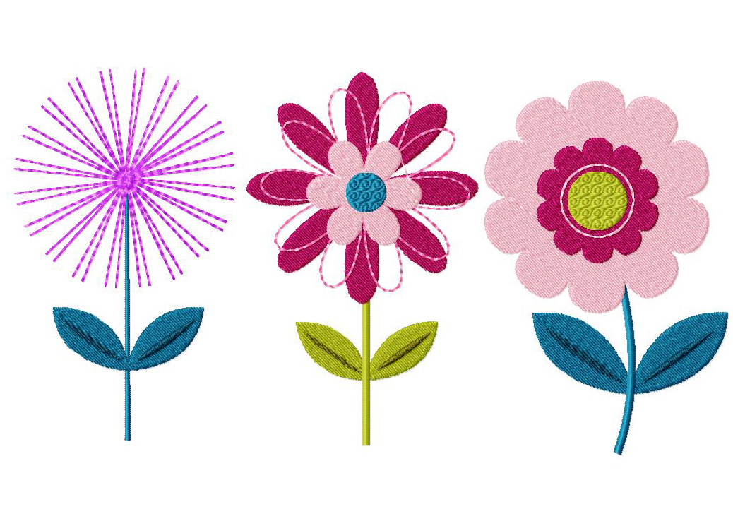 Flower Three Pack Machine Embroidery Designs For Gold Members Only