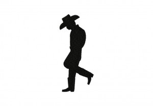 Cowboy Stance Silhouette Stitched 5_5 Inch