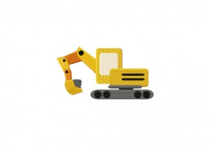Digger Truck Stitched 5 Inch