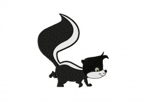 SkunkCartoonCartoon Skunk Stitched 5_5 Inch