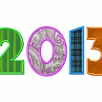New Year 2013 Machine Applique Design