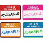 Hello My Name is Adorable Fill Stitch Embroidery