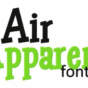 Air Apparent Machine Embroidery Font Set