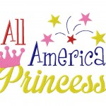 All American Princess Stitched 6X10 Hoop