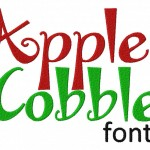Apple Cobbler Machine Embroidery Font Set