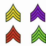 Army Stripes Machine Embroidery Design