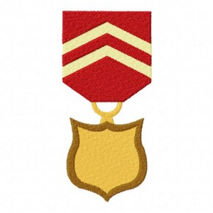 Medal of Awesome Machine Embroidery Design