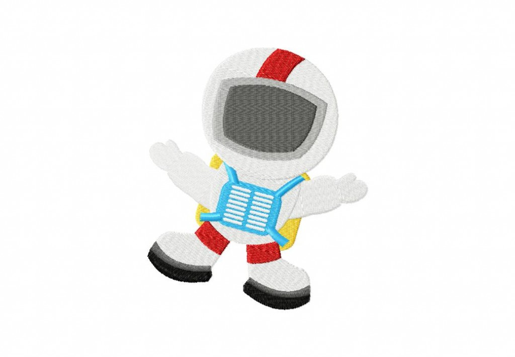 Astronaut Machine Embroidery Design Daily Embroidery