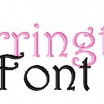 Barrington Machine Embroidery Design Font Set