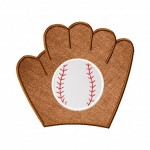 Baseball Glove and Ball Applique