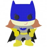 Super Hero Bat Girlie Machine Embroidery Design