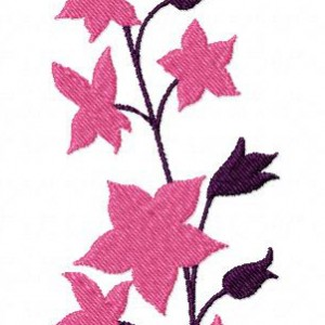 Bell Flowers Machine Embroidery Design