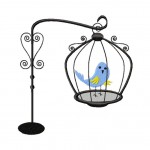 Fancy Bird in Cage Design