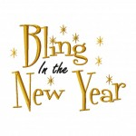 Bling in the New Year Machine Embroidery Design