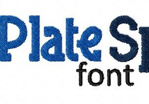 Blue Plate Special Machine Embroidery Font Set