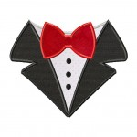 Bow Tie Shirt Machine Applique Design