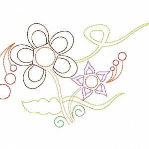 Breezy Garden Machine Embroidery Design