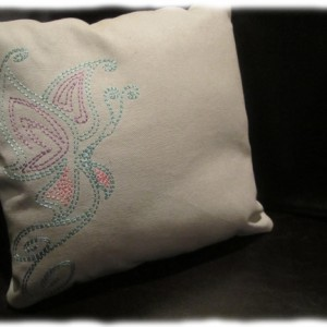 Machine Embroidery Redwork Butterfly Design
