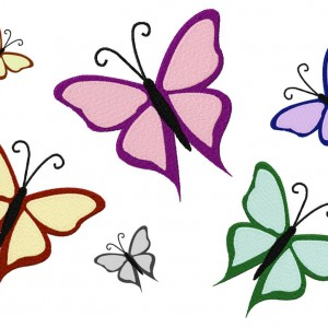 Machine Embroidery Butterfly Design