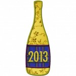 Machine Applique Champagne 2013 Bottle