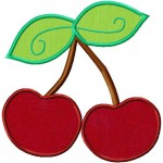 Cherries inclides BOTH Applique and Fill Stitch
