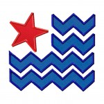 Chevron Flag Applique 6X10 Hoop