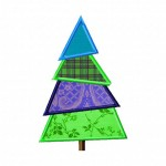 Christmas Tree Machine Applique Design